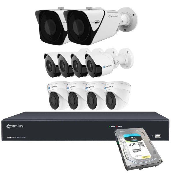 Camius wired security camera system 16PP2B4I2BM4T