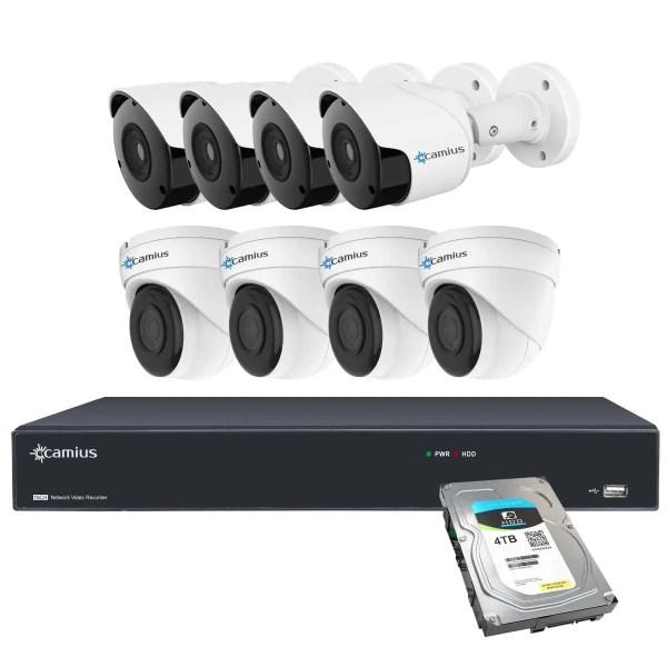 Camius nvr poe camera system 16PP4B4I4T