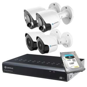 outdoor spotlight security 4K cameras 8P2S82B3TS Camius