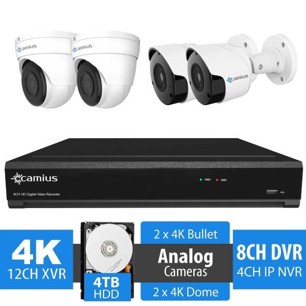 Camius security cameras and dvr 124k2b2d4t