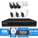 6 camera security system with dvr 124k3b3d3t
