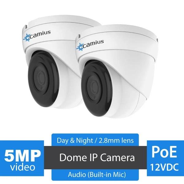 IRIS528A CAMIUS 5MP poe dome ip camera - dome camera
