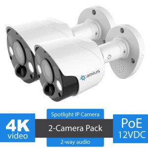 Camius motion activated spotlight security camera