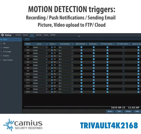 TRivault4K2168-16-channel-4K-DVR-motion-detection-triggers