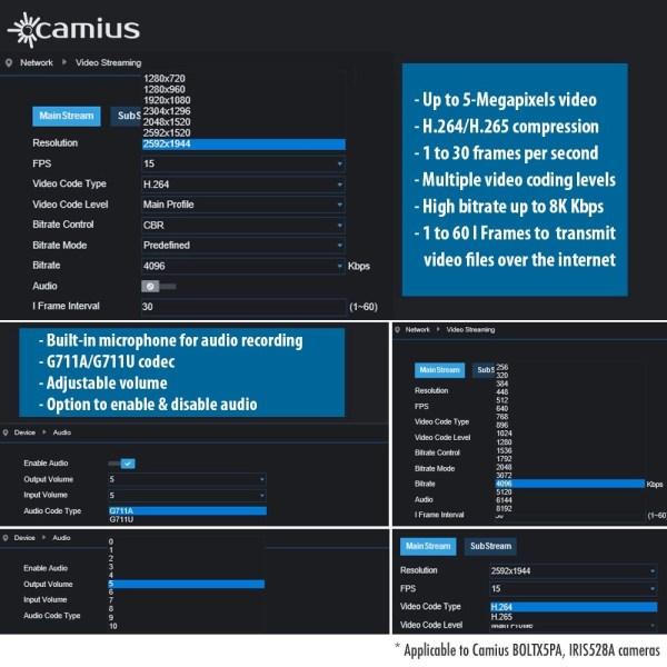 camius security ip poe camera surveillance
