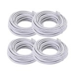 4-Pack Cat5E Cable Patch Cord 60 feet for PoE camera installation