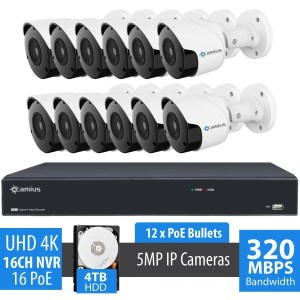 12 camera security system 16pp12b4t