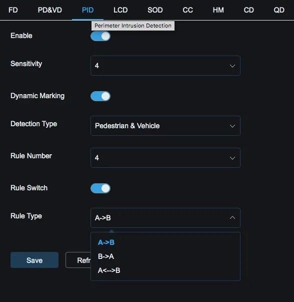 Spot8R Perimiter Intrusion Detection Rule type