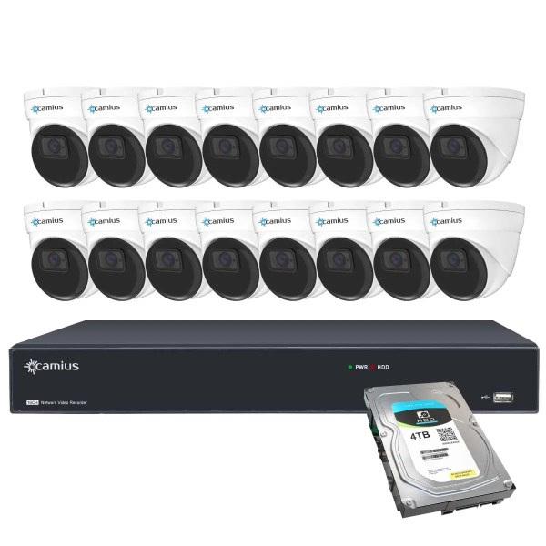 16 dome poe cameras with audio 16PN16D5R4T