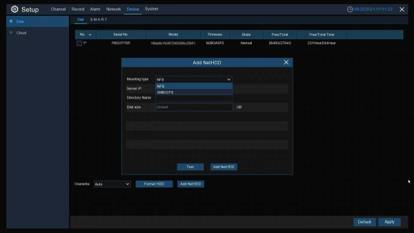 4K184R ADD NET HDD