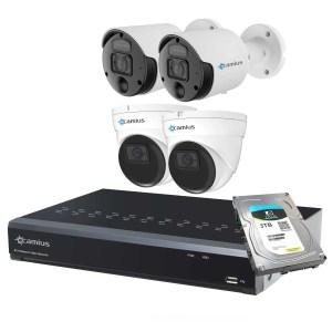 4K Spotlight Outdoor Cameras 2 dome 8ch nvr system