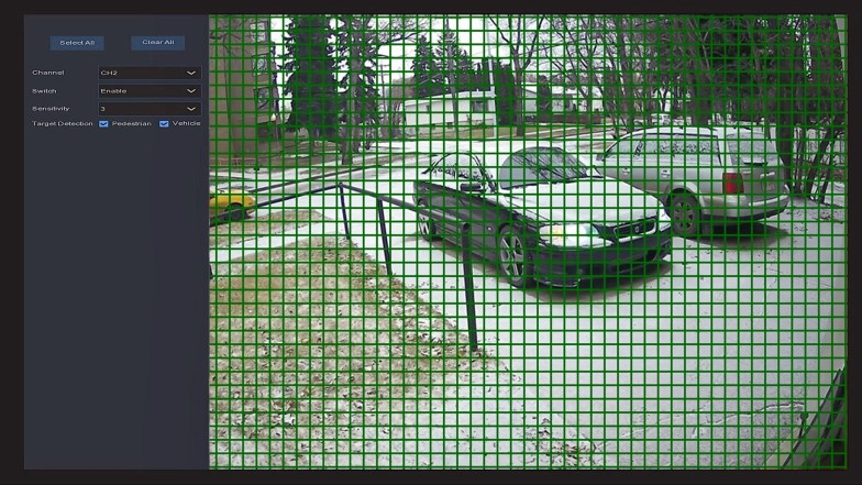 IPVAULT1128PR MOTION DETECTION AREA SETUP TARGET DETECTION pedestrian vehicle web