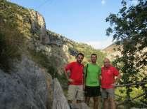 Angelo con Davide (ora Don Davide) e Paolo, pellegrini bresciani