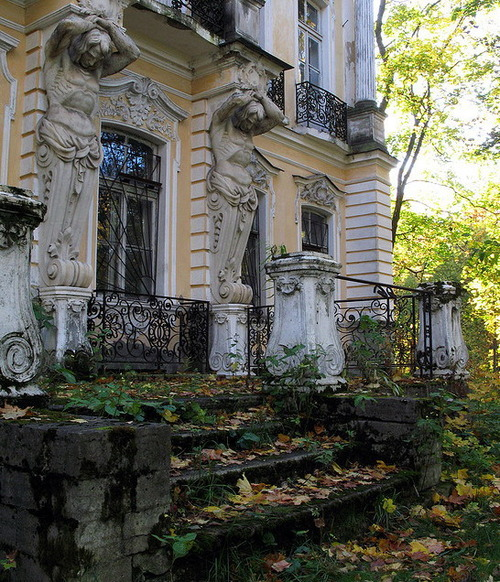 Ornate Entrance, Peterhof, Russia