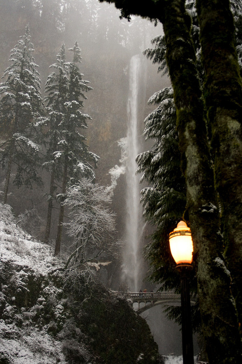 Lantern, Multnomah Falls, Oregon
