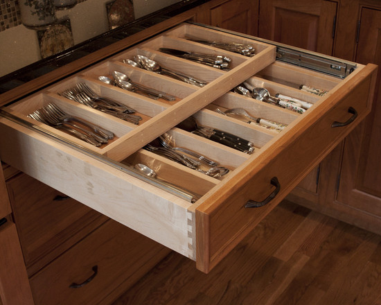 Brown Nilon Large Double Tiered Cutlery Tray (Dc Metro)
