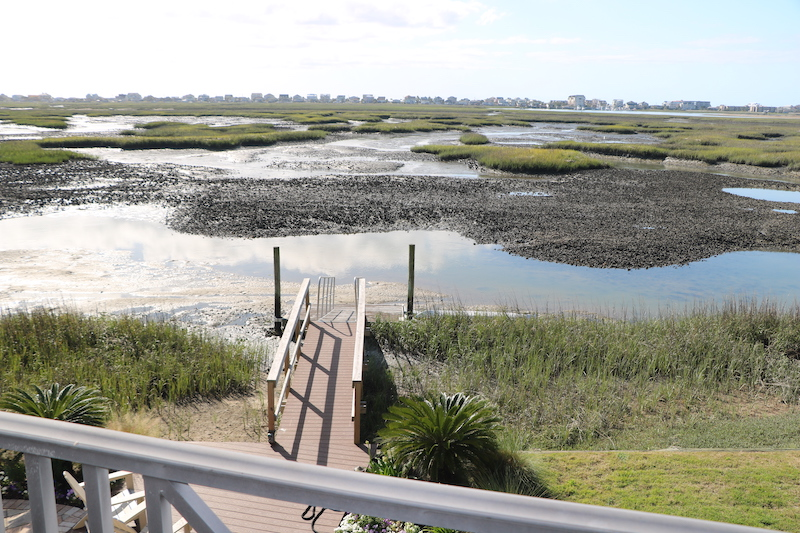 view of murrells inlet at low tide