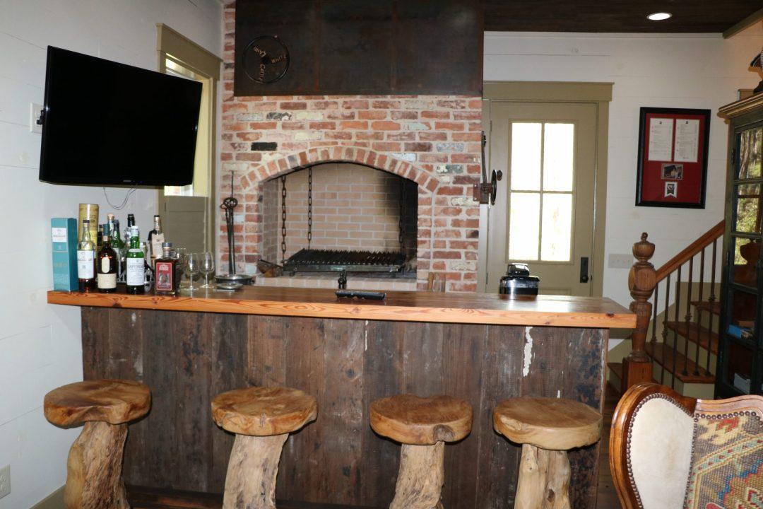 Built in Asado grill in hunting cabin