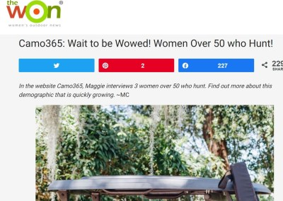 Camo365: Wait to be Wowed! Women Over 50 who Hunt!
