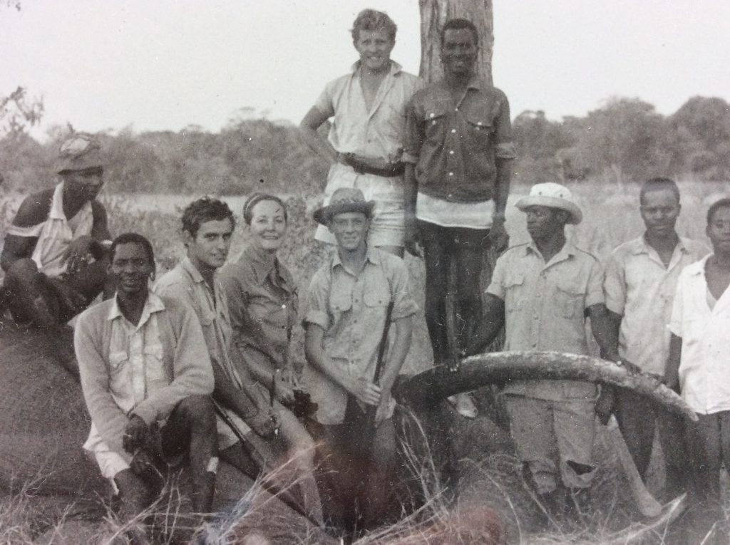 vintage photo of African hunt