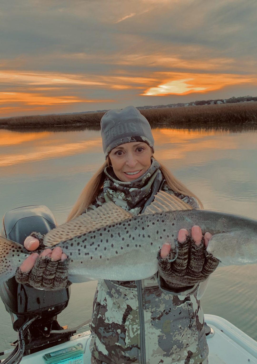 Speckled trout caught by lady in South Carolina