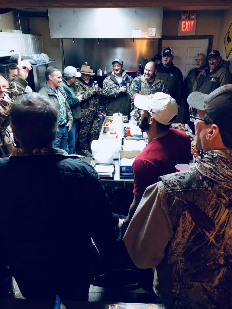 we always bless our food and ask for a safe hunt