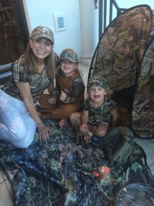 Huntress and her grand girls all love wearing camo