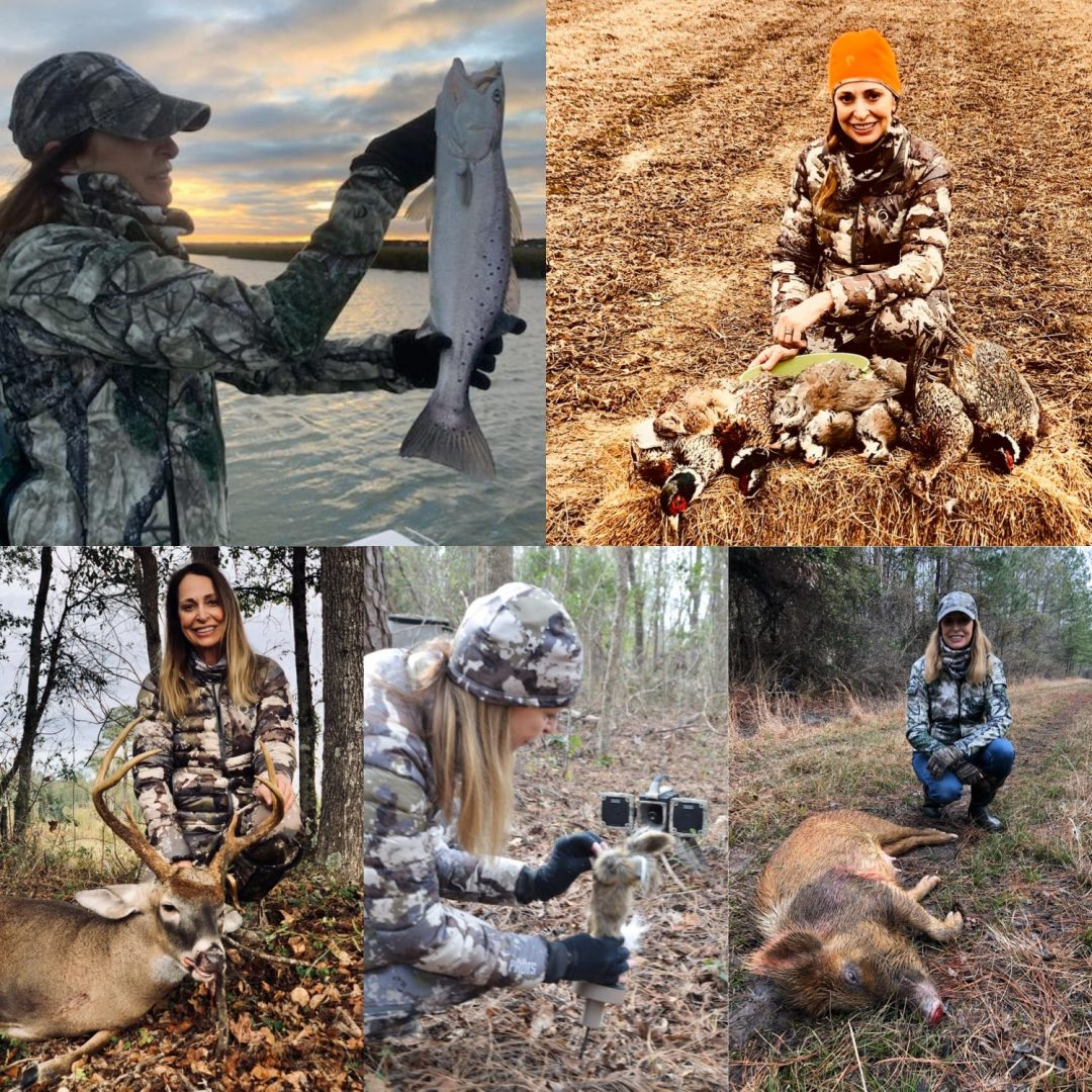 collection of hunting and fishing photos Maggie Boineau, blogger
