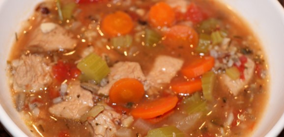Hot Gobble Soup on a Cold Wintry Night!