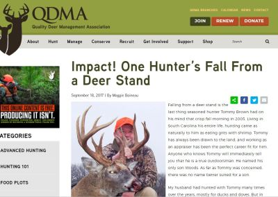Impact! One Hunter's Fall From a Deer Stand