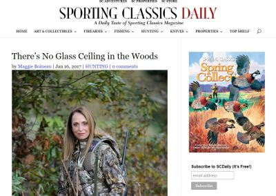 There's No Glass Ceiling in the Woods