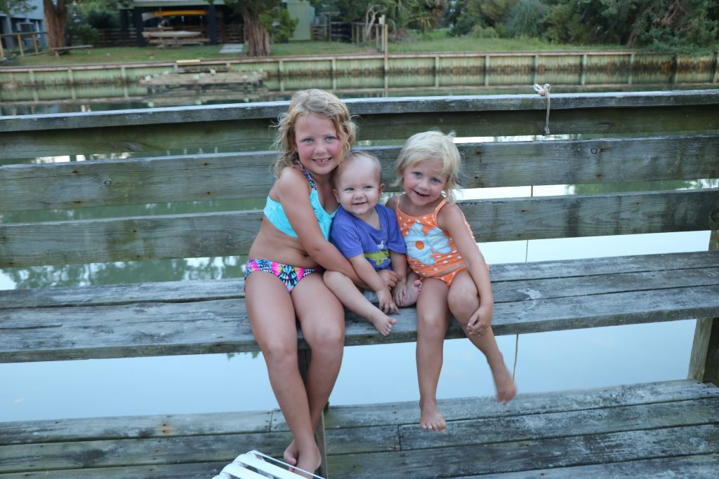 Three precious little girls on summer vacation
