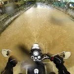 The Unexpected and Unordinary: City roads are never shot of surprises for bikers. Flooded streets, city lights, pothole-filled roads makes for excellent pictures and a lot of fun. Photograph/Ketan Kundargi