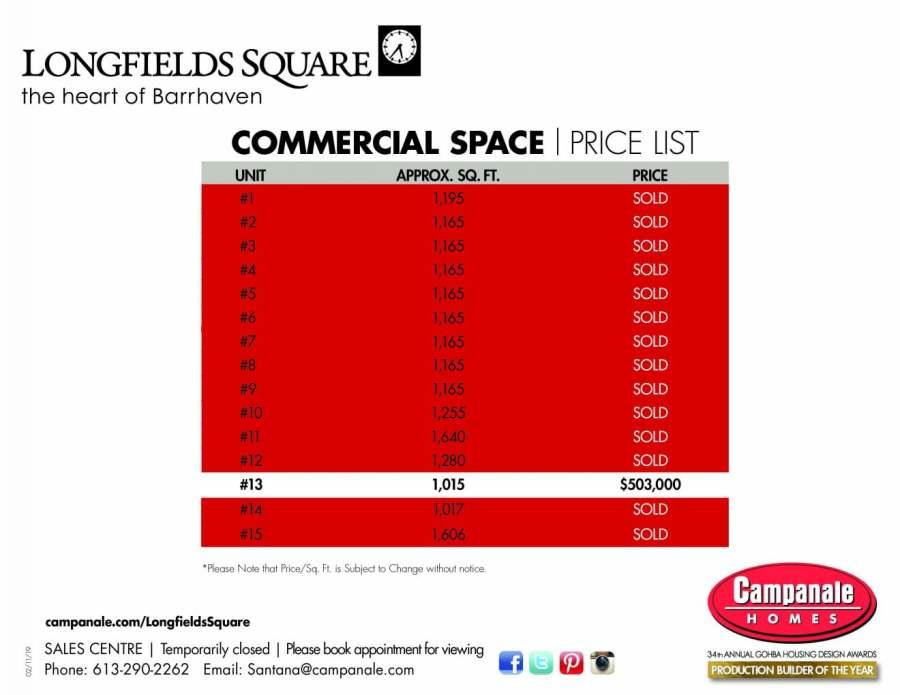 price list feb 2