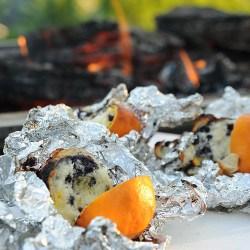 campfire orange muffin blueberry muffin rv camping kids fun recipe