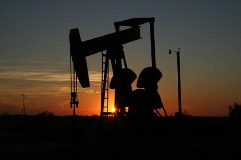 Ein Ölbohrer in Texas
