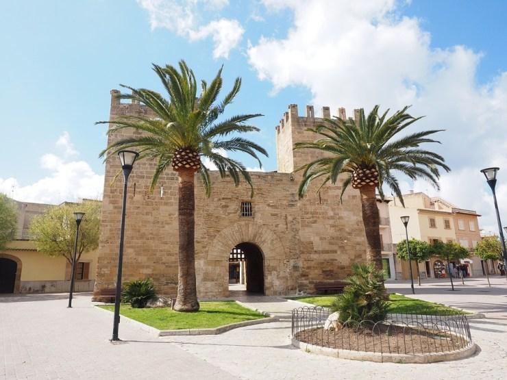 Stadttor von Alcúdias auf Mallorca