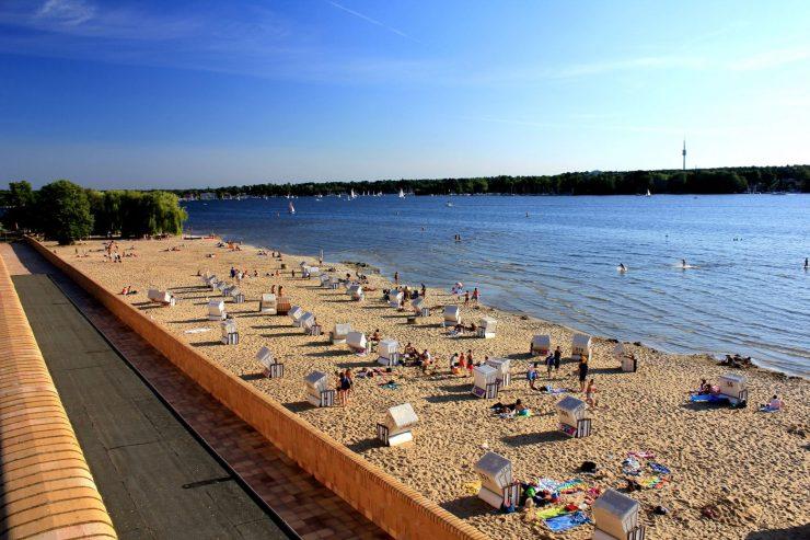 Strandkörbe am Strandbad Wannsee