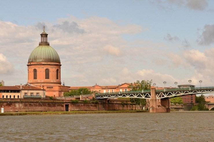 Rosafarbene Gebäude in Toulouse