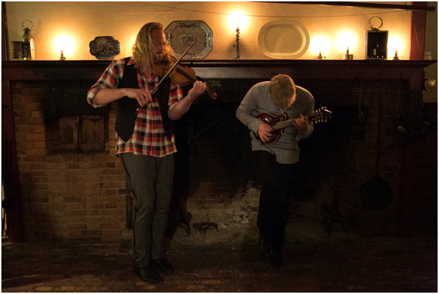 Photograph of Edwin Huizinga and Keith Hamm performing in the Historic Kitchen