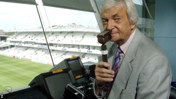 How i'll remember him. In the BBC commentary box. Picture courtesy of the BBC.