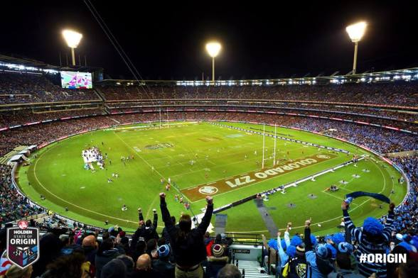 The Melbourne Cricket Ground or MCG, looking magnificent.
