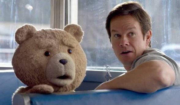 Wahlberg and Ted incredulous as it turns out there's not enough dope in the world to make their sequel funny