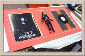 Michael Jackson memorabilia at Campbelltown Framing Gallery