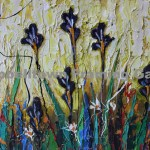 Original Arwork for Sale at Campbelltown Framing Gallery thick oil flowers