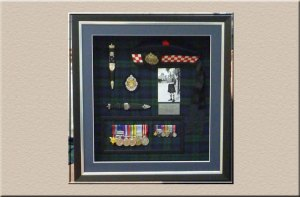 framing of mounted medals and memorabilia at Campbelltown Framing Gallery