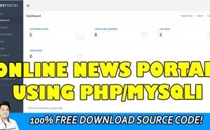 online news portal in php
