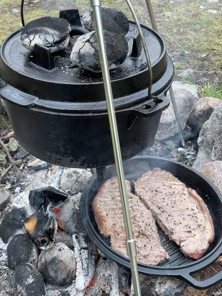Campfire Steak & Chips