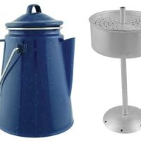 Camping Blue Enamel Coffee Pot with Perculation