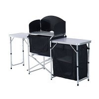 Outsunny 6' Portable Fold-Up Camp Kitchen with Windscreen